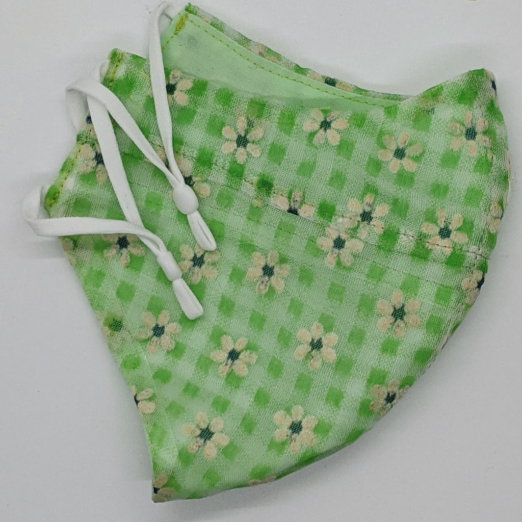 What the Flocked Gingham Vintage Fabric Mask