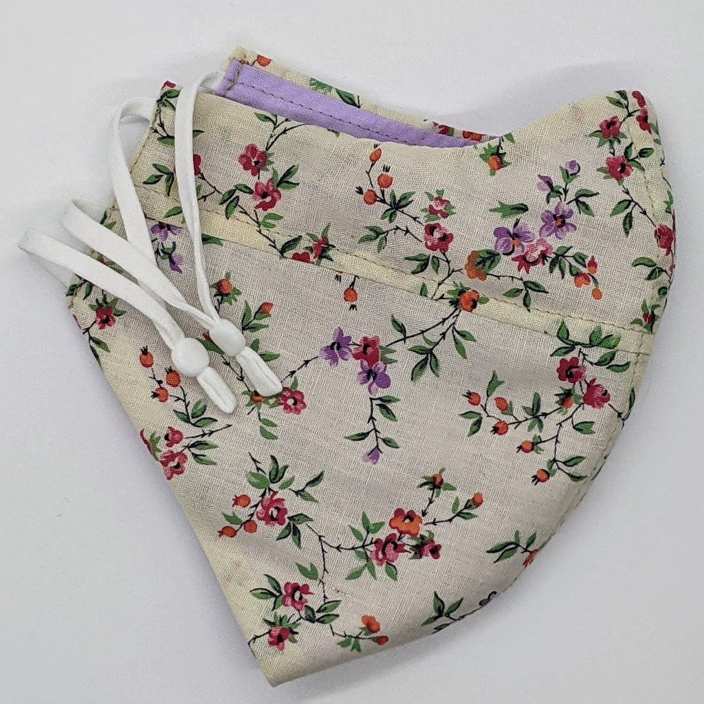 Garden Party Vintage Fabric Mask