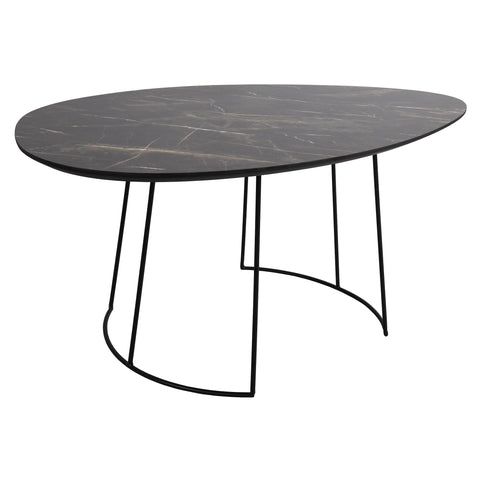 där Lighting 001AGO001 Agoston Coffee Table Dark Marble