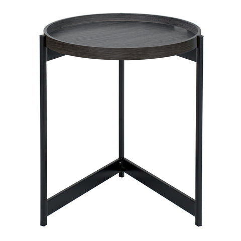 där Lighting 001TOM001 Tomal Round Table Dark Oak Style Veneer