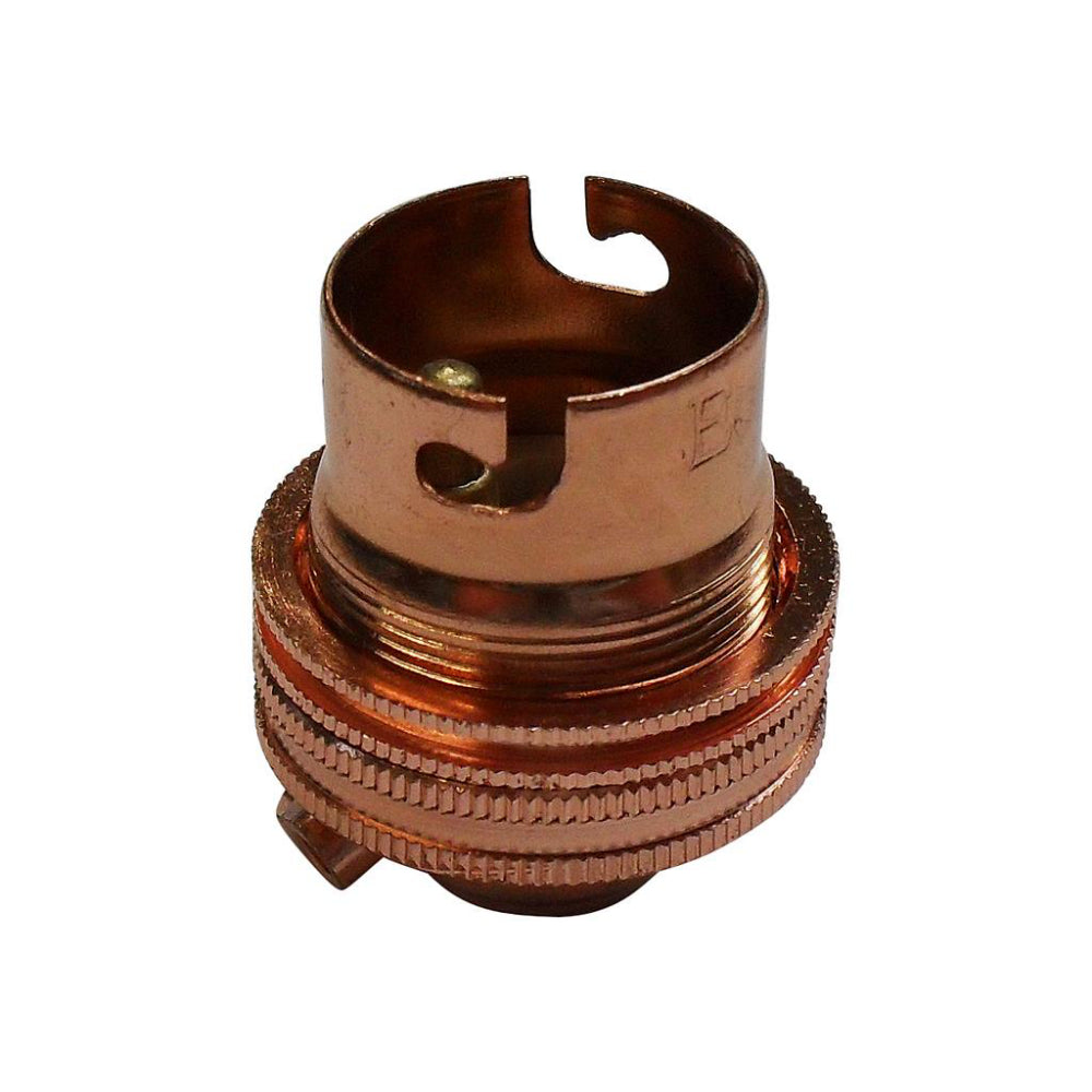 "BC - B22 Lampholder ½"" Entry Unswitched Copper"