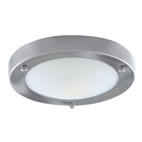 Searchlight 1131-31CC Chrome Flush Light With Opal Glass Diffuser