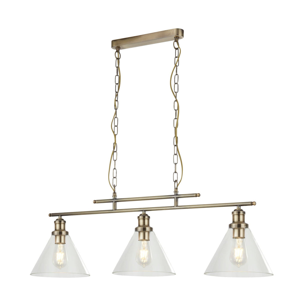 Searchlight 1277-3 Pyramid 3 Light Linear Pendant Ceiling Light