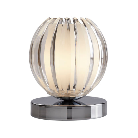 Searchlight 1811CL Polished Chrome/Clear Touch Activated Table Lamp