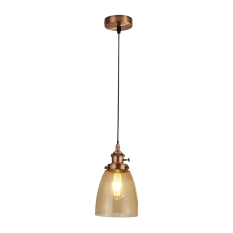 Searchlight 1921-1CU Pendant Island Single Light Pendant Ceiling Light Copper Finish
