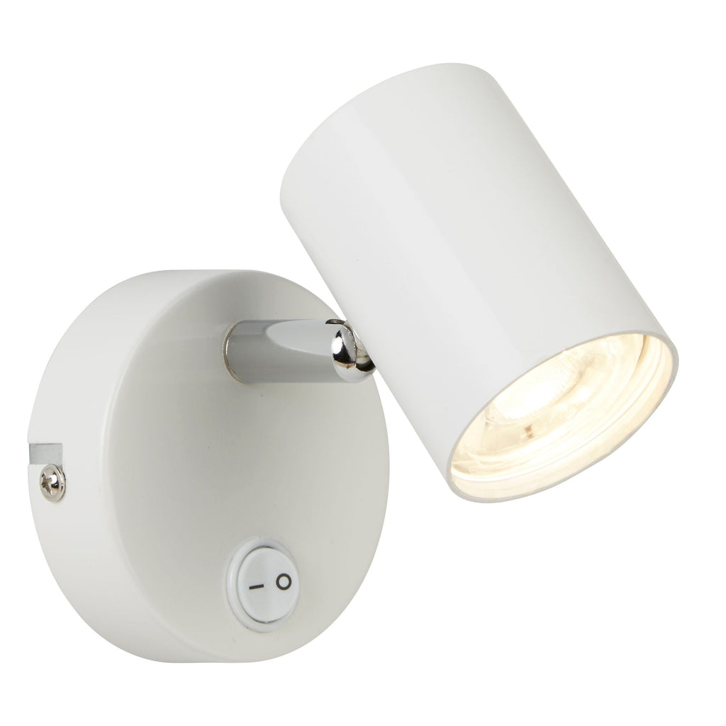 Searchlight 3171WH Rollo Single Light White LED Spotlight