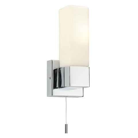 Endon Lighting 39627 Square Single Light Polished Chrome Switched Wall light