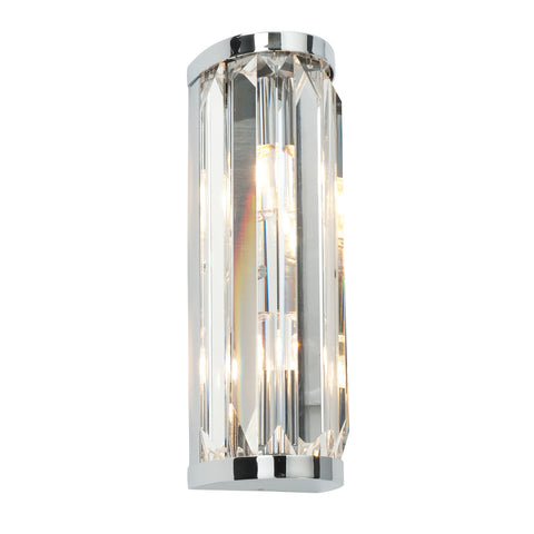 Endon Lighting 39629 Crystal 2 Light Polished Chrome Wall light