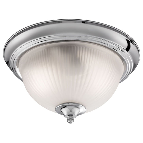 Searchlight 4042 American Diner 2 Light Flush Ceiling Light Satin Silver Finish IP44