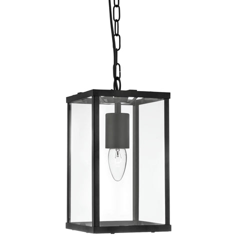 Searchlight 4241BK Voyager Single Light Pendant Ceiling Light Matt Black Finish