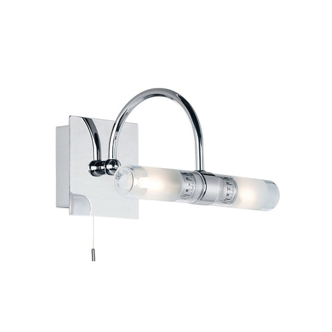 Endon Lighting 447 Shore 2 Light Polished Chrome Switched Wall light
