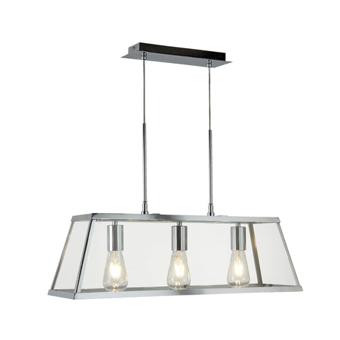 Searchlight 4613-3CC Voyager 3 Light Pendant Ceiling Light Chrome Finish