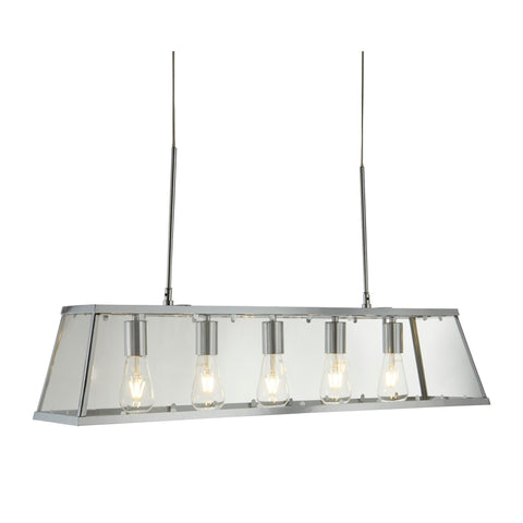 Searchlight 4614-5CC Voyager 5 Light Pendant Ceiling Light Chrome Finish