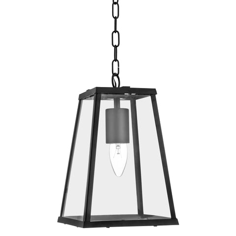 Searchlight 4614BK Voyager Single Light Pendant Ceiling Light Matt Black Finish