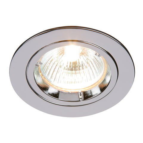 Saxby Lighting 52329 Cast Fixed Recessed Downlight Chrome Finish