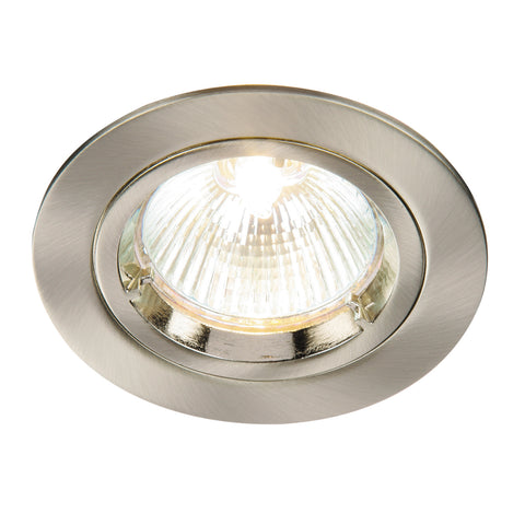 Saxby Lighting 52330 Cast Fixed Recessed Downlight Satin Nickel Finish