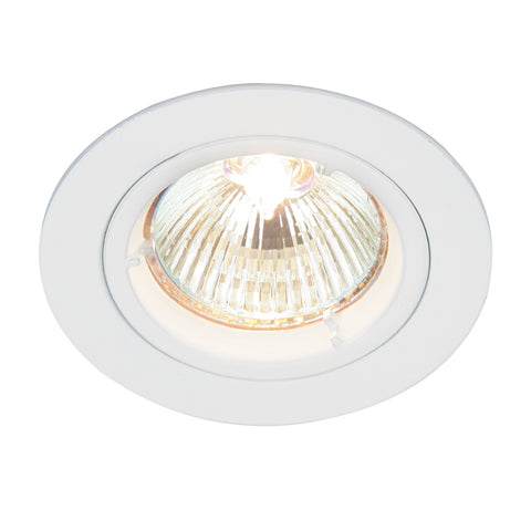 Saxby Lighting 52331 Cast Fixed Recessed Downlight Gloss White Finish