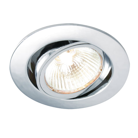 Saxby Lighting 52332 Cast Tilt Recessed Downlight Chrome Finish
