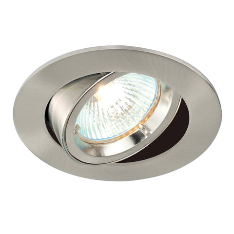 Saxby Lighting 52333 Cast Tilt Recessed Downlight Satin Nickel Finish