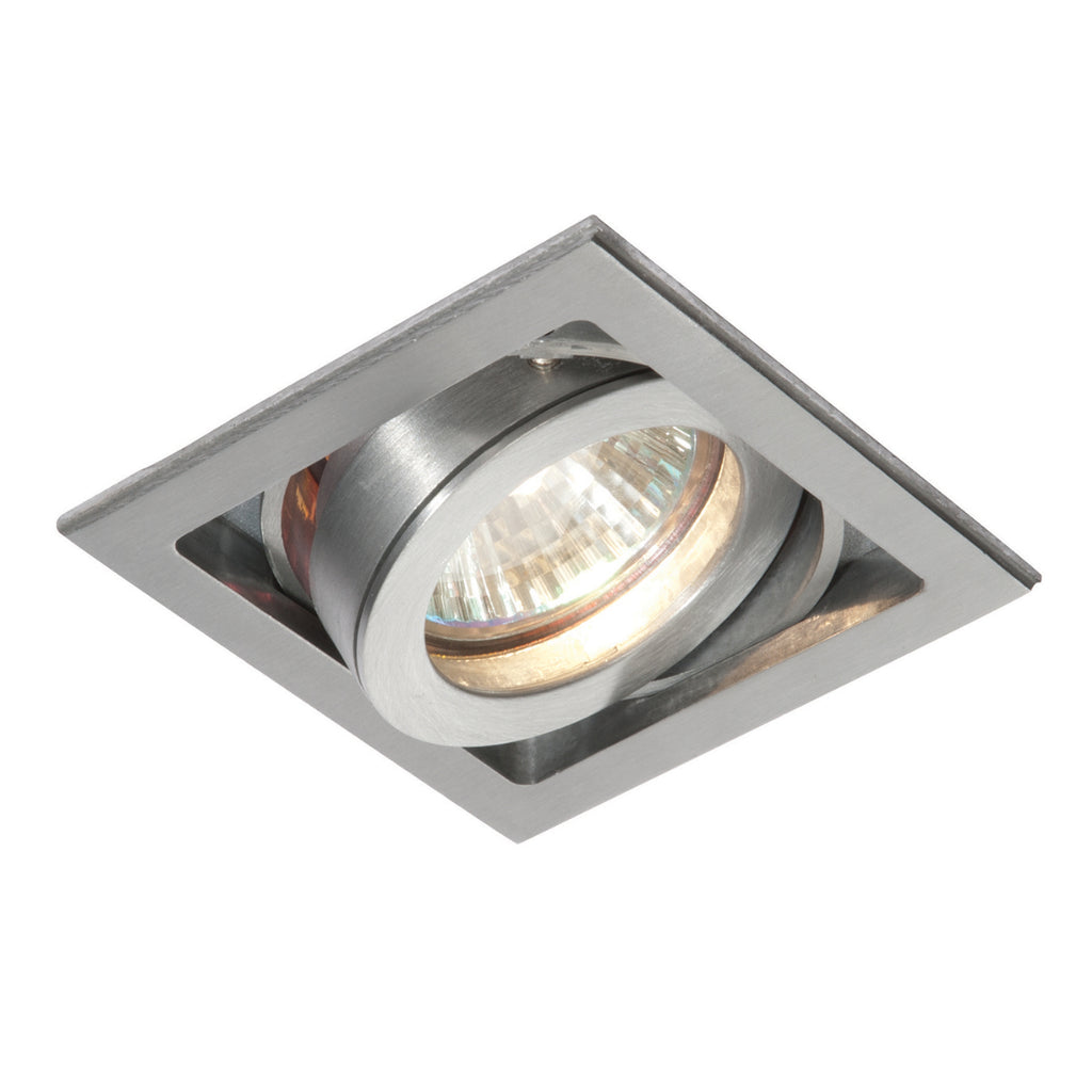 Saxby Lighting 52407 Xeno Single Recessed Downlight Aluminium Finish