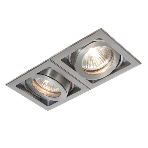 Saxby Lighting 52408 Xeno Twin Recessed Downlight Aluminium Finish