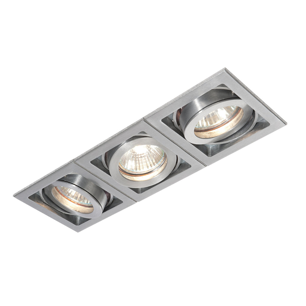 Saxby Lighting 52409 Xeno Triple Recessed Downlight Aluminium Finish