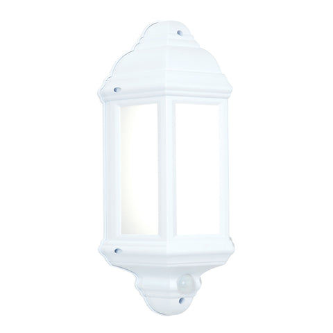 Endon Lighting 54554 Halbury Matt White LED PIR Outdoor Wall Light