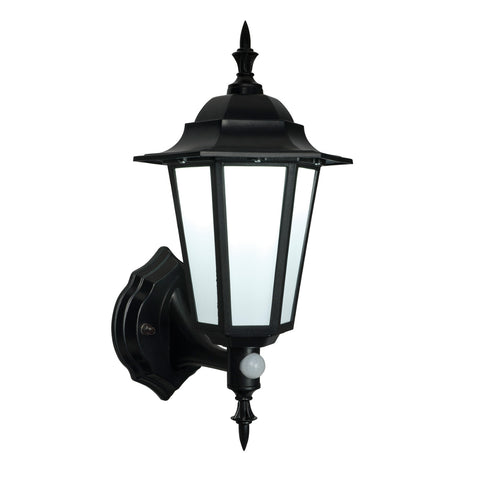 Endon Lighting 54555 Evesham Matt Black LED PIR Outdoor Wall Light