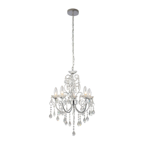 Endon Lighting 61384 Tabitha 5 Light Polished Chrome & Crystal Chandelier