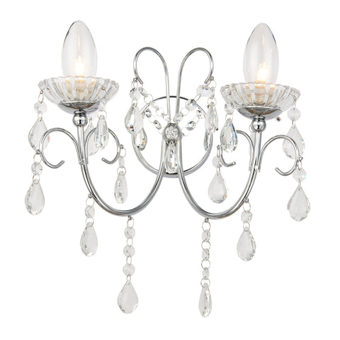 Endon Lighting 61385 Tabitha 2 Light Polished Chrome Wall light
