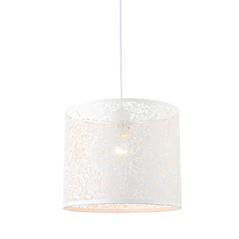 Endon Lighting 61611 Secret Garden Single 30cm Easy Fit Pendant Shade Matt Ivory Finish