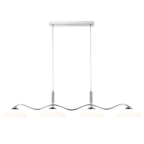 Searchlight 6184-4CC Bar Pendant Ceiling Light Chrome Finish