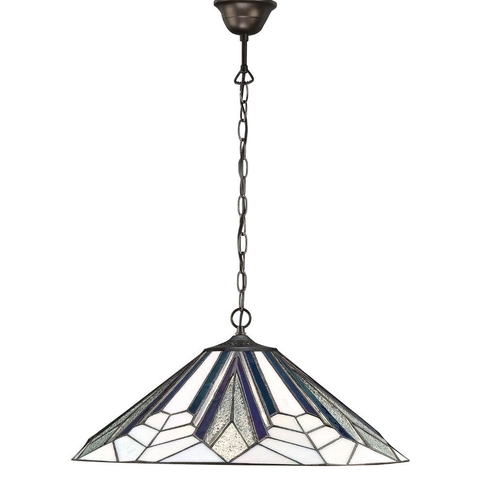 Astoria Large Single Light Tiffany Pendant Ceiling Light