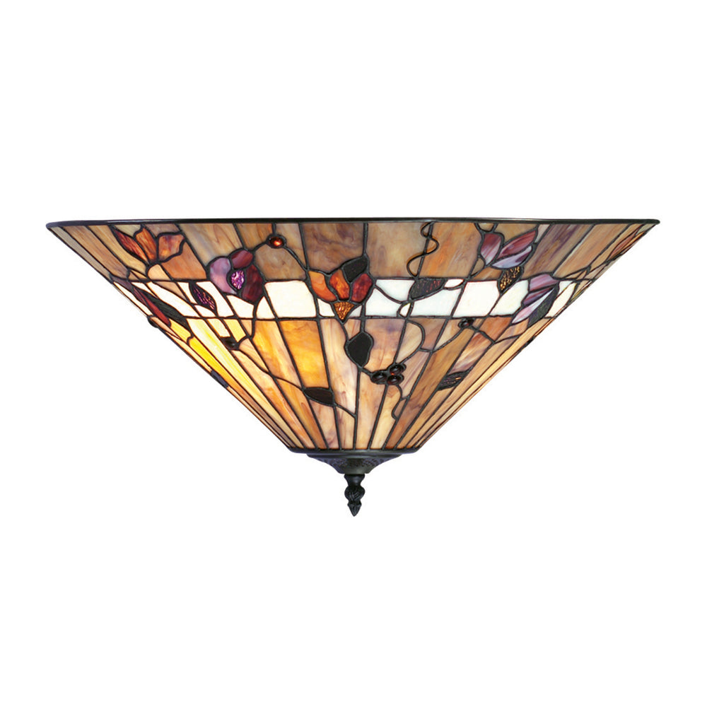 Bernwood 2 Light Tiffany Flush Ceiling Light