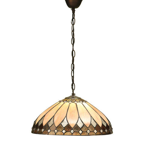 Brooklyn Medium Single Light Tiffany Pendant Ceiling Light