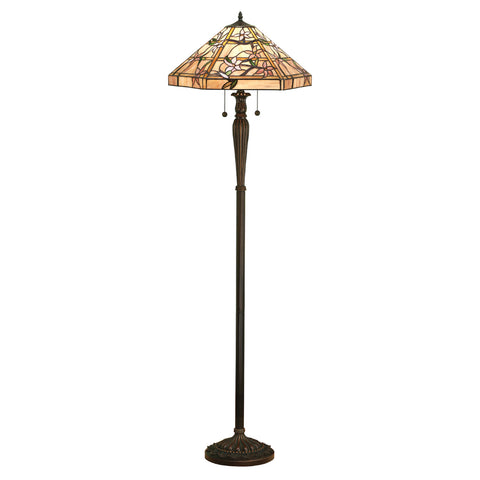 Clematis Medium Tiffany Floor Lamp