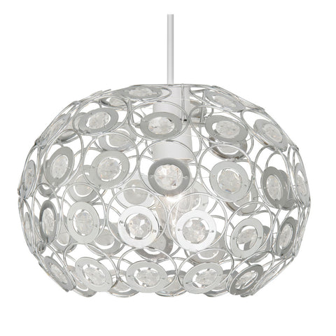Oaks Lighting 6403CL Tulsa Clear Easy Fit Pendant Shade