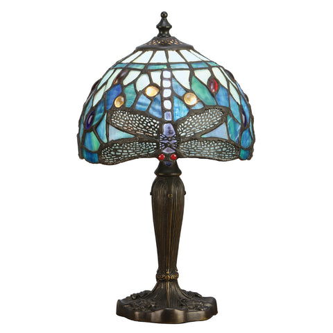 Dragonfly Blue Intermediate Tiffany Table Lamp