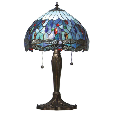 Dragonfly Blue Small Tiffany Table Lamp
