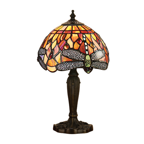 Dragonfly Flame Intermediate Tiffany Table Lamp