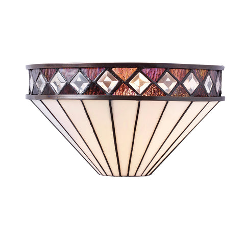 Fargo Single Light Tiffany Wall Light