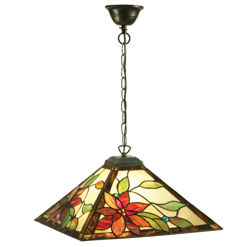 Lelani Medium Single Light Tiffany Pendant Ceiling Light