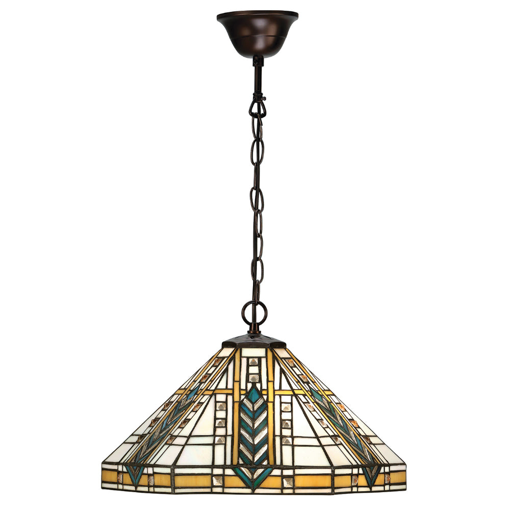 Lloyd Medium Single Light Tiffany Pendant Ceiling Light