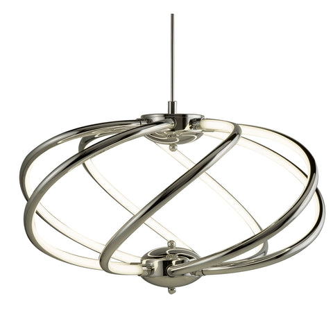 Searchlight 6500-7CC Bardot 7 Light LED Pendant Ceiling Light Chrome Finish