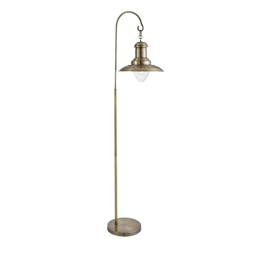 Searchlight 6502AB Fisherman Antique Brass Floor Lamp
