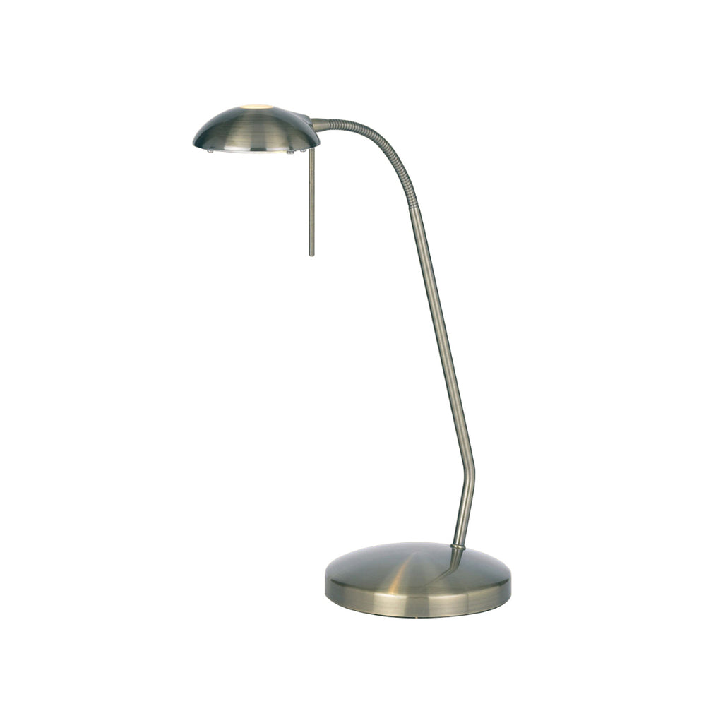 Endon Lighting 656-TL-AN Hackney Single Light Touch Table Lamp Antique Brass Finish