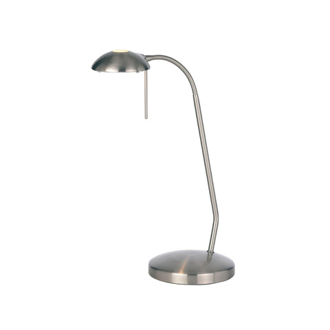 Endon Lighting 656-TL-SC Hackney Single Light Touch Table Lamp Satin Chrome Finish