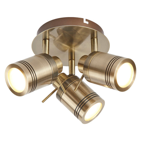 Searchlight 6603AB Samson 3 Light Antique Brass Spotlight