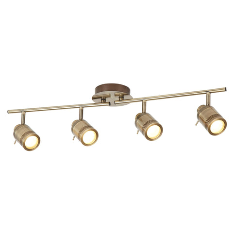 Searchlight 6604AB Samson 4 Light Antique Brass Spotlight