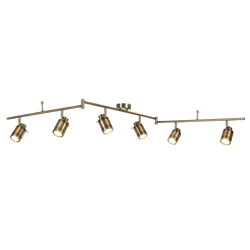 Searchlight 6606AB Samson 6 Light Antique Brass Spotlight